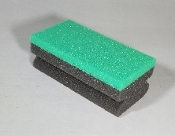 GREEN / BLACK DRESSING SPONGE